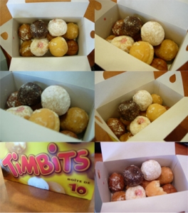 So many ways to take photos of timbits